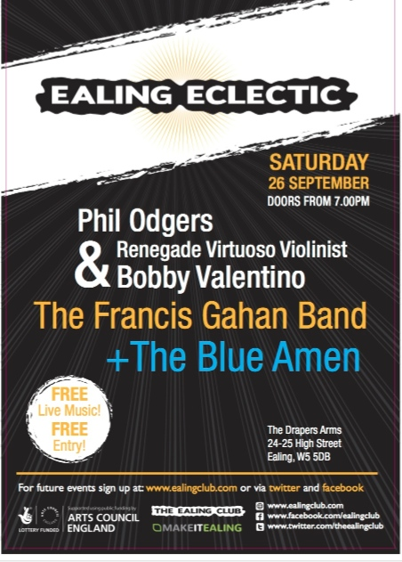 Ealing Eclectic ealing live music gigs
