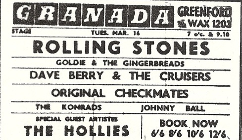 Rolling Stones 16 March 1965