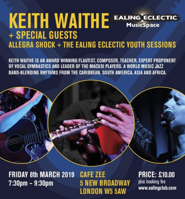 Poster for Ealing Eclectic Event on 8 March 2019 at Cafe Zee Ealing