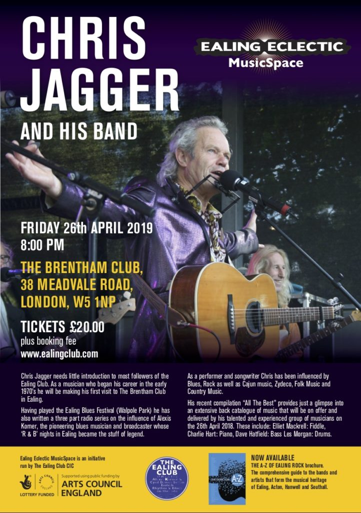 LIVE MUSIC EALING 26th April 2019 - THE EALING CLUB