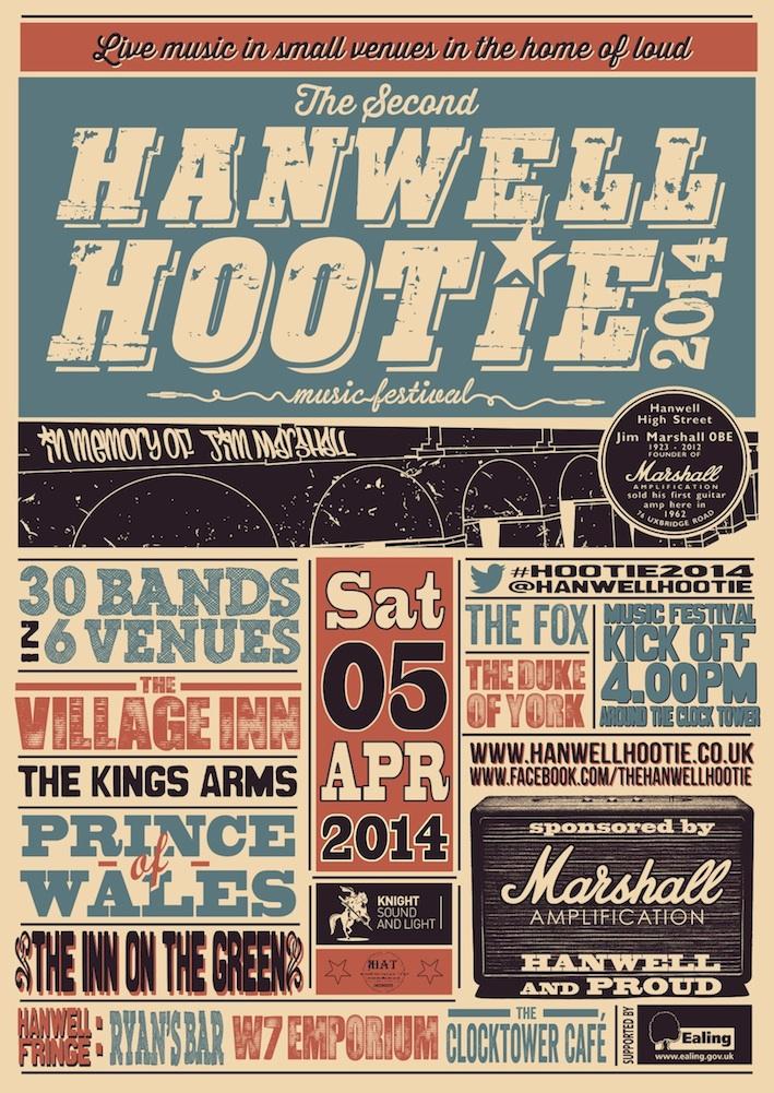 Hanwell Hootie Poster 2014
