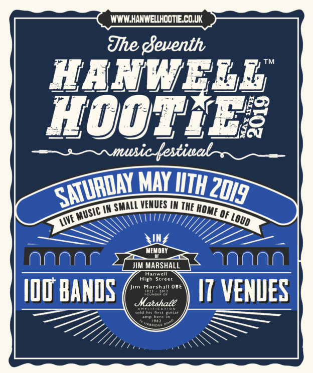 Poster for the seventh annnual Hanwell Hootie takes place on Saturday 11 May 2017.